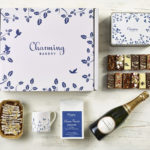 Classic Champagne & Coffee Gift Hamper - Leaves Design - Charming Bakery