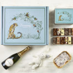 Ultimate Champagne New Baby Gift Hamper - Cheetah Design - Charming Bakery