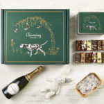 Ultimate Champagne New Baby Gift Hamper - Dalmatian Design - Charming Bakery