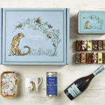 Luxury Prosecco Afternoon Tea Gift Hamper - Cheetah Design - Charming Bakery