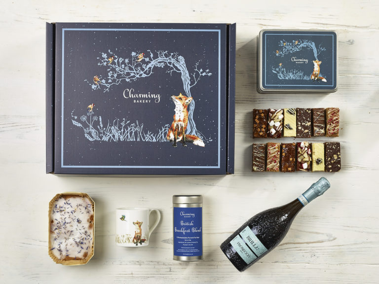 Luxury Prosecco Afternoon Tea Gift Hamper - Fox Design - Charming Bakery